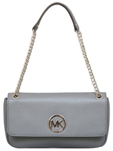 Michael by Michael Kors Fulton Flap In Heather Grey Shoulder Bag