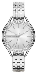 A|X Armani Exchange A/X Armani Exchange AX4254 Allte Silver tone Mirror Dial Watch