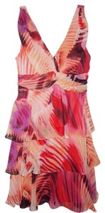 Bisou Bisou short dress Coral/Multi on Tradesy