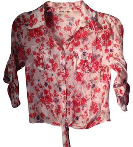 Love Culture Top Cream and floral print