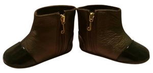 Juicy Couture Casual Round Bronze with black capped toe Boots