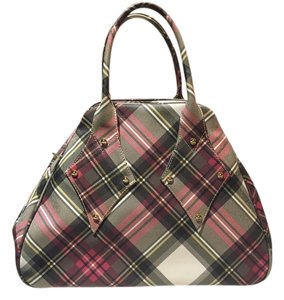 Vivienne Westwood Leather Checked Pattern Tote in Multi-color Derby tartan