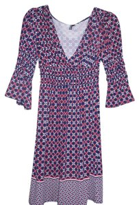 Max Studio/Max Edition short dress Multi-Color, Navy Blue, Pink, Ivory V-neck Jersey Stretchy on Tradesy