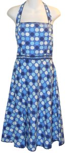 Maggy London short dress Blue Retro Polka Dot on Tradesy