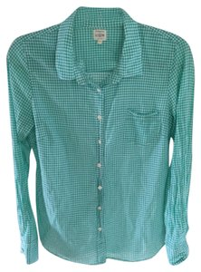 J.Crew Button Down Shirt Vivid aqua