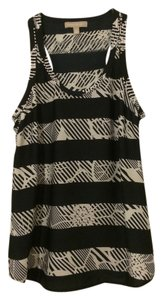 Banana Republic Racer-back Bold Stripe Casual Top Navy blue and white