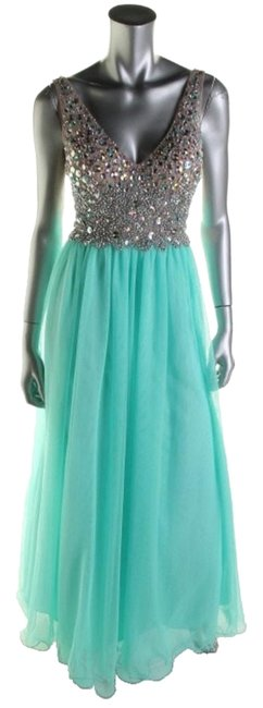 Item - Green 55186/ Nites By Stacy Sklar Long Night Out Dress Size 4 (S)