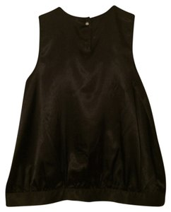 BCBGMAXAZRIA Pleated Top Dark Brown