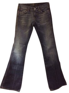 7 For All Mankind Distressed Flare Leg Jeans-Distressed