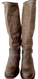 Frye Leather Knee-high Slate Boots