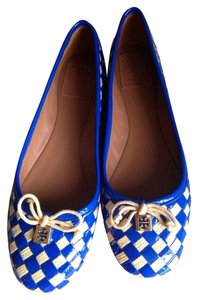Tory Burch Blue & Tan Flats