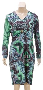 Roberto Cavalli short dress Green Multicolor on Tradesy