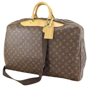 Louis Vuitton Alize Monogram Brown Travel Bag