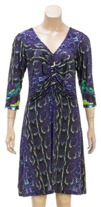 Roberto Cavalli short dress Blue Multicolor on Tradesy