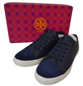Tory Burch Navy Blue Flats