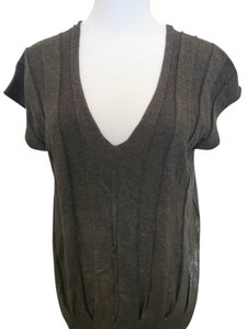 Armani Exchange short dress Shiny Silver Gray on Tradesy
