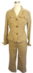 Michael Kors Michael Kors Tan 2 Piece Jacket and Capri Pant Suit