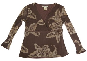 Tommy Bahama Top Elegant Taupe Brown
