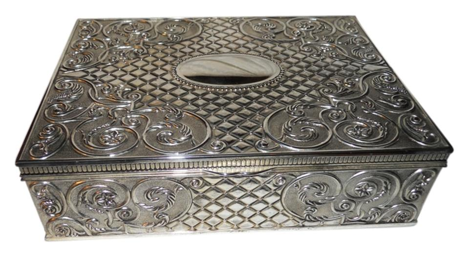 Godinger Vintage Silver Plated Jewelry Box