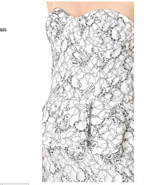 Alice + Olivia Peplum Strapless Embroidered Mermaid Lace Hourglass Dress