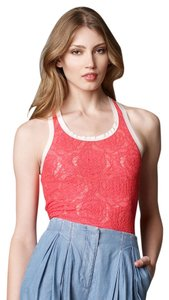 See by Chloé Lace Top Fuchsia