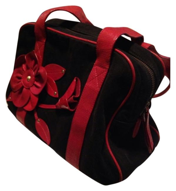 Item - Black with Red Fabric Satchel
