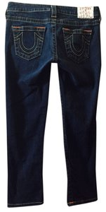 True Religion Capri/Cropped Denim-Dark Rinse