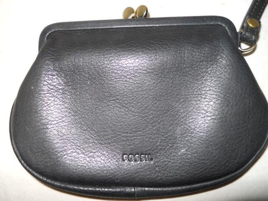 Fossil Leather Wristlet in black
