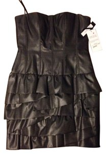Robert Rodriguez Ruffle Strapless Metallic Cocktail Dress