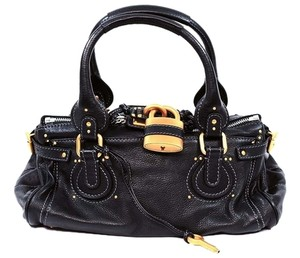 Chloé Fashion Designer Paddington Satchel in Black