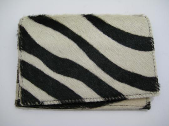 Maurizio Taiuti Maurizio Taiuti Italy Leather Calf Hair Fur Zebra Print Passport Cover Wallet