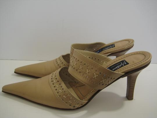 Claude Montana Camel Leather Mules