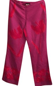 Romeo Gigli Wide Leg Pants Vibrant pink and red