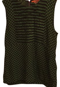 Tory Burch Top Black and green
