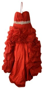 Maggie Sottero High-low Evening Tulle Cocktail Prom Corset Dress