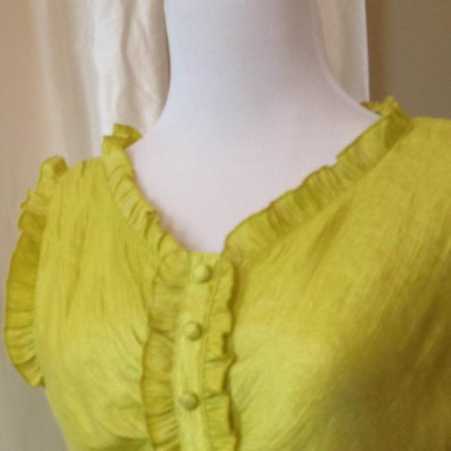 yippee short dress Chartreuse on Tradesy