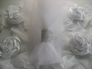 Napkin Rings 500 Bling Silver Rhinestone Wedding Holder Decoration 8 Rows