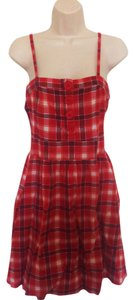 Passport short dress Red and White Plaid on Tradesy