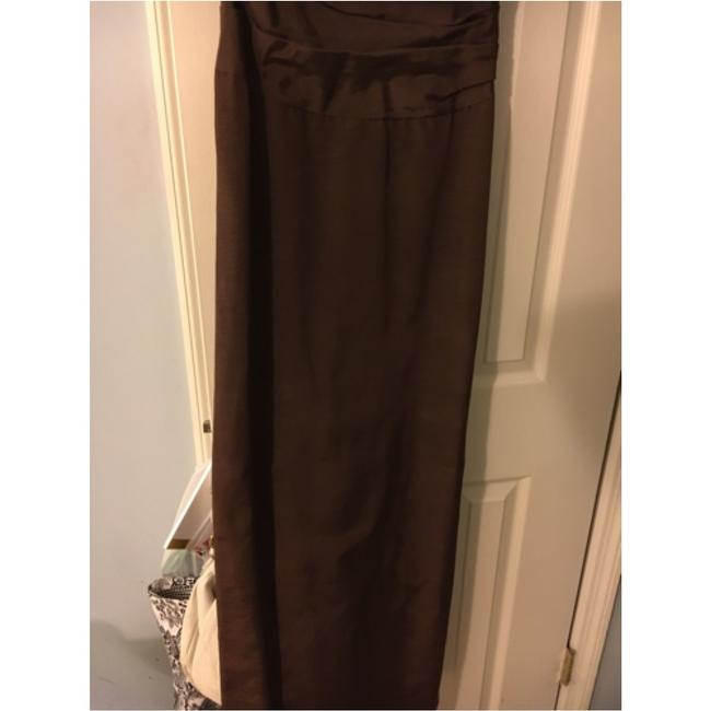 Nicole Miller Sweetheart Neckline Brown Will Sparkle In The Light Ruched Boddice Dress