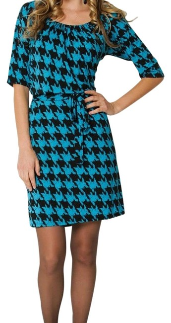 Preload https://item1.tradesy.com/images/fashionette-style-boutique-tealblack-knee-length-short-casual-dress-size-8-m-755780-0-0.jpg?width=400&height=650