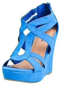 Fashionette Style Boutique Blue Wedges