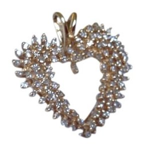 Affinity Diamonds 1 ct diamond heart pendant