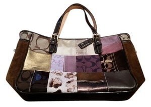 Coach Tote in Patchwork Purple