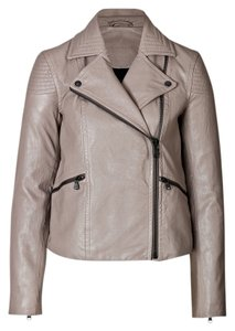 Marc by Marc Jacobs Leather Motorcycle Fall Winter Haute Couture High Fashion Designer Street Style Khaki Beige Leather Taupe Leather Jacket