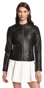 Marc New York Leather Moto Leather Jacket