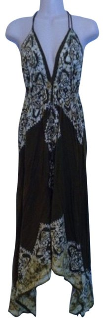 Olive Green White Brown Maxi Dress by Advance Apparels