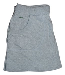 Lacoste Drawstring Sweatshirt Mini Skirt Grey