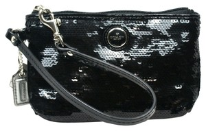 Coach Clutch Wristlet in black