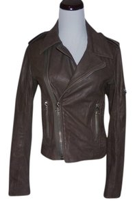 JOE'S Jeans ;leather Moto Biker Ribbed Leather Motorcycle Jacket