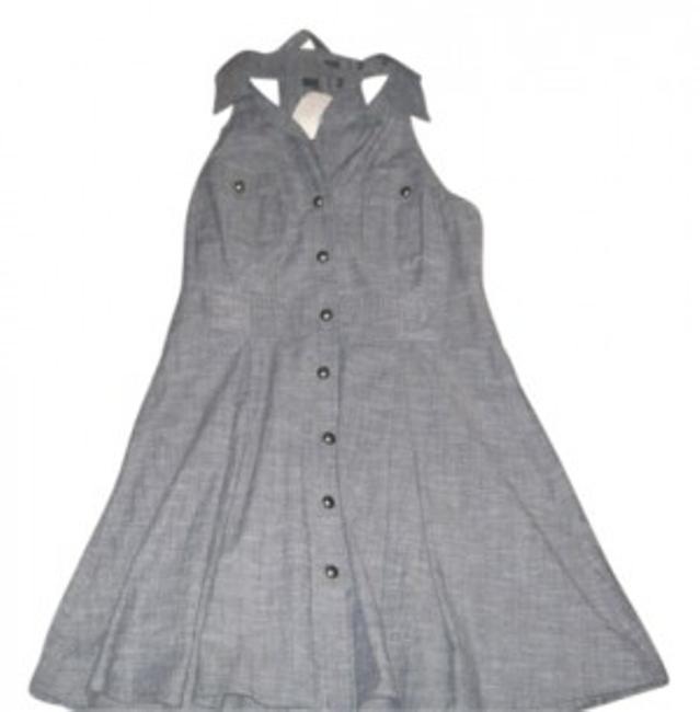 Preload https://item3.tradesy.com/images/forever-21-gray-sleevless-mini-workoffice-dress-size-10-m-7567-0-0.jpg?width=400&height=650